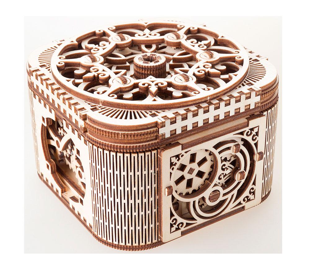 Ugears 3D dřevěné mechanické puzzle Šperkovnice