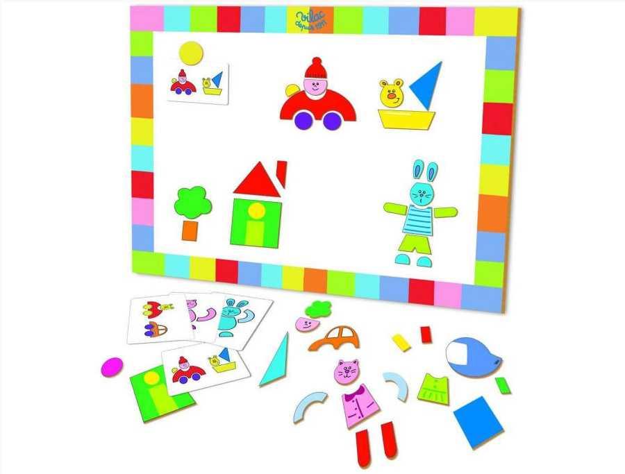 Dřevěné hračky Vilac - Magnetická deska se vzory