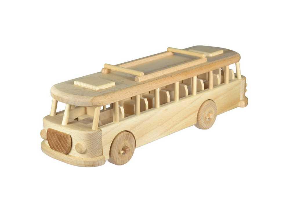 Ceeda Cavity - přírodní dřevěný retro trolejbus