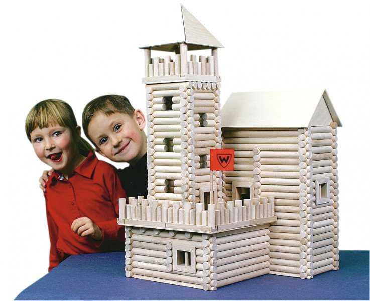 Walachia Dřevěná stavebnice Vario Box 450 dílů