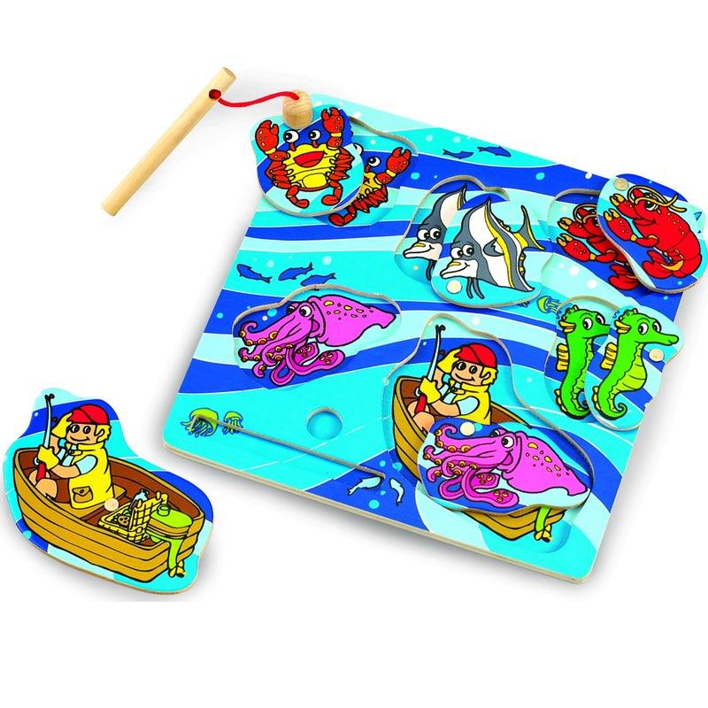 Wonderworld Dřevěné puzzle Chytání ryb