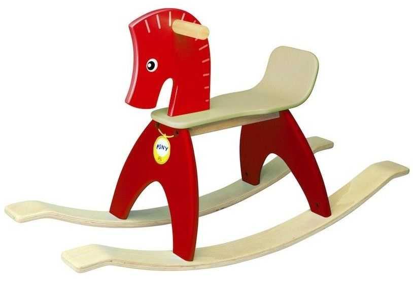 Wonderworld Dřevěný houpací kůň červený