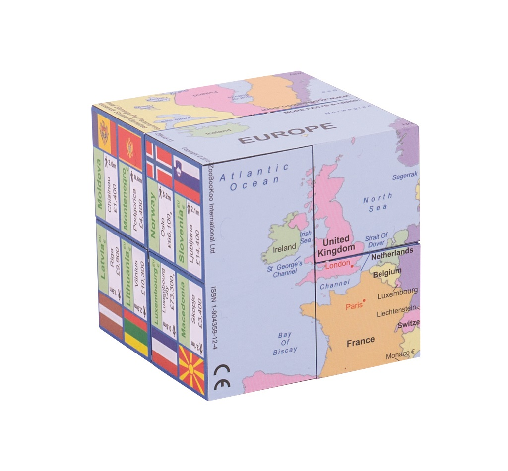 Zoobookoo Kniha v kostce Mapa Evropy