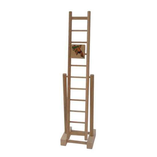 Dřevěné hračky - Dřevěný žebřík papoušek