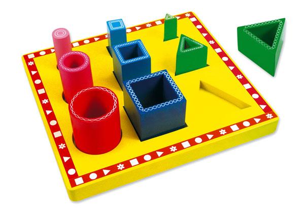Dřevěné hračky -Poznej tvary - Formen Vario