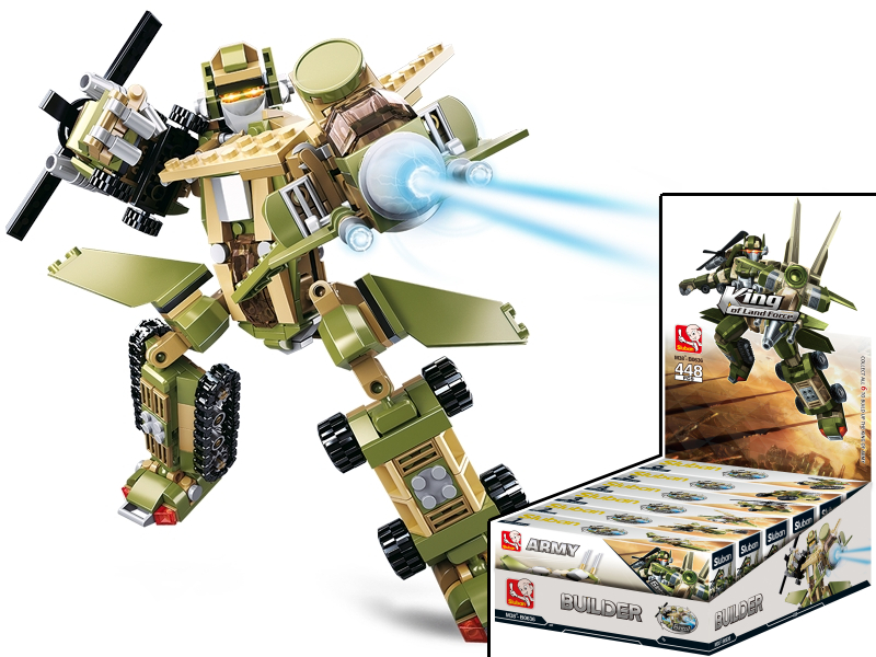 Sluban Builder M38-B0636 King of Land Force 6 into 1