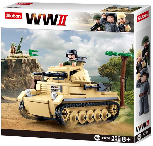 Sluban WWII M38-B0691 Německý tank Panzer II