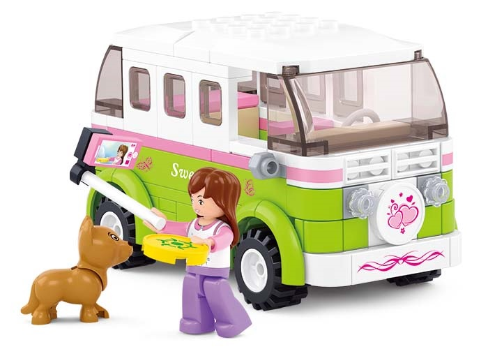 Sluban Girls Dream Town M38-B0523 Obytné auto