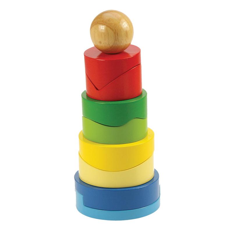 Bigjigs Baby Nasazovací věž s tvary