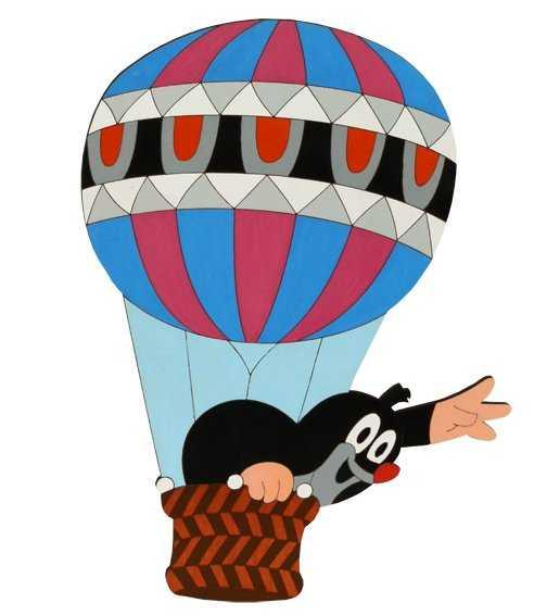 Dřevěné dekorace - Velká dekorace Krtek v balónu