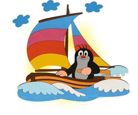 DoDo Dětská lampička krtek na lodi