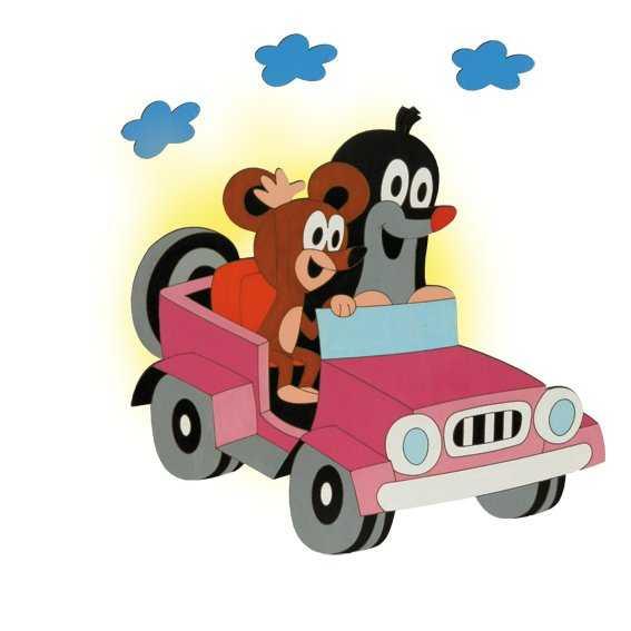 DoDo Dětská lampička krtek v autě