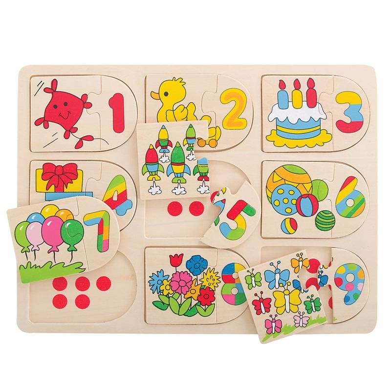 Bigjigs Toys Obrázkové počítací puzzle