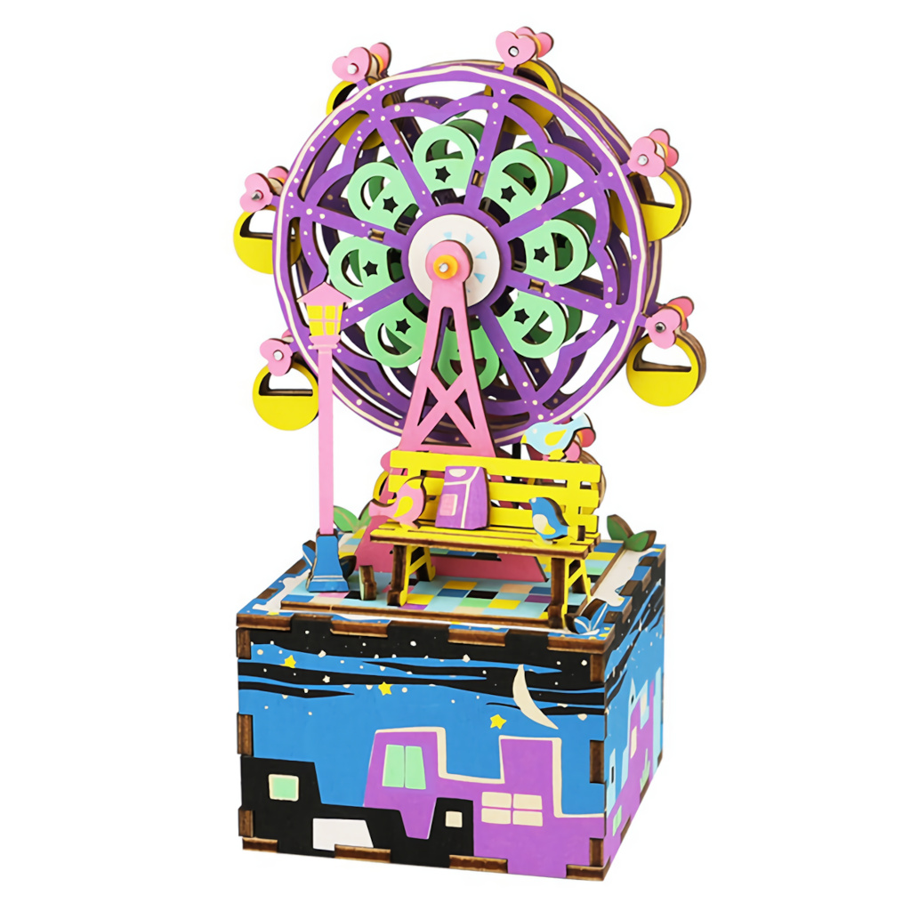 RoboTime 3D skládačka hrací skříňky Malý kolotoč