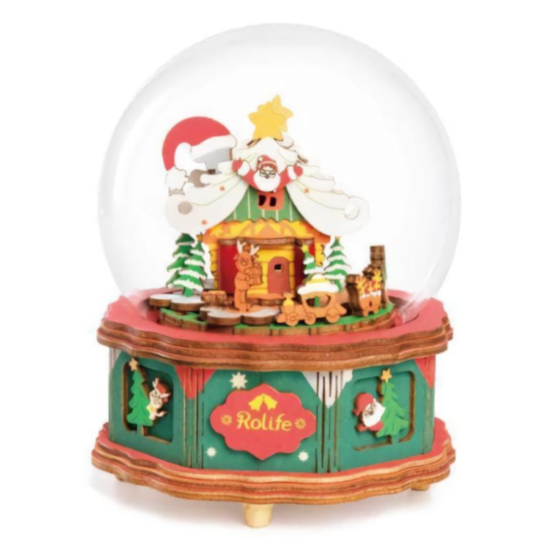 RoboTime 3D skládačka hrací skříňky Vánoční domeček