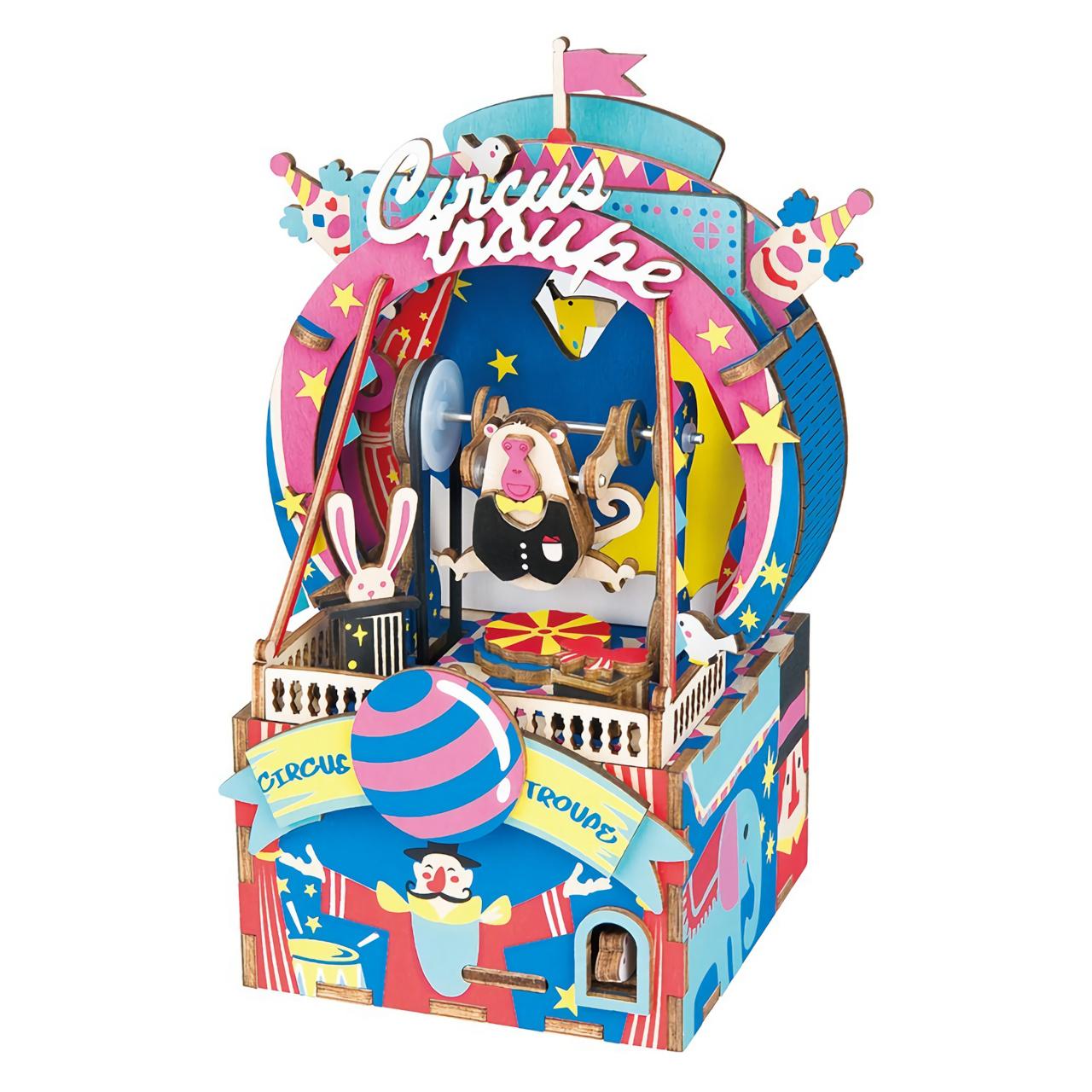 RoboTime 3D skládačka hrací skříňky Malý cirkus