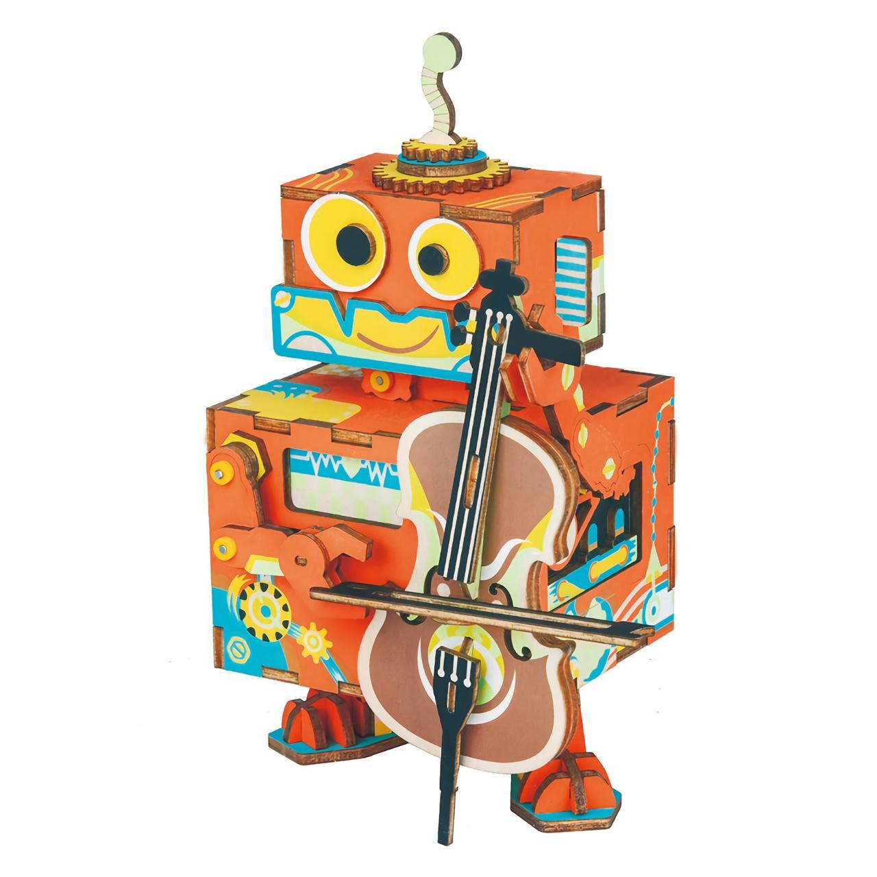 RoboTime 3D skládačka hrací skříňky Muzikální robůtek