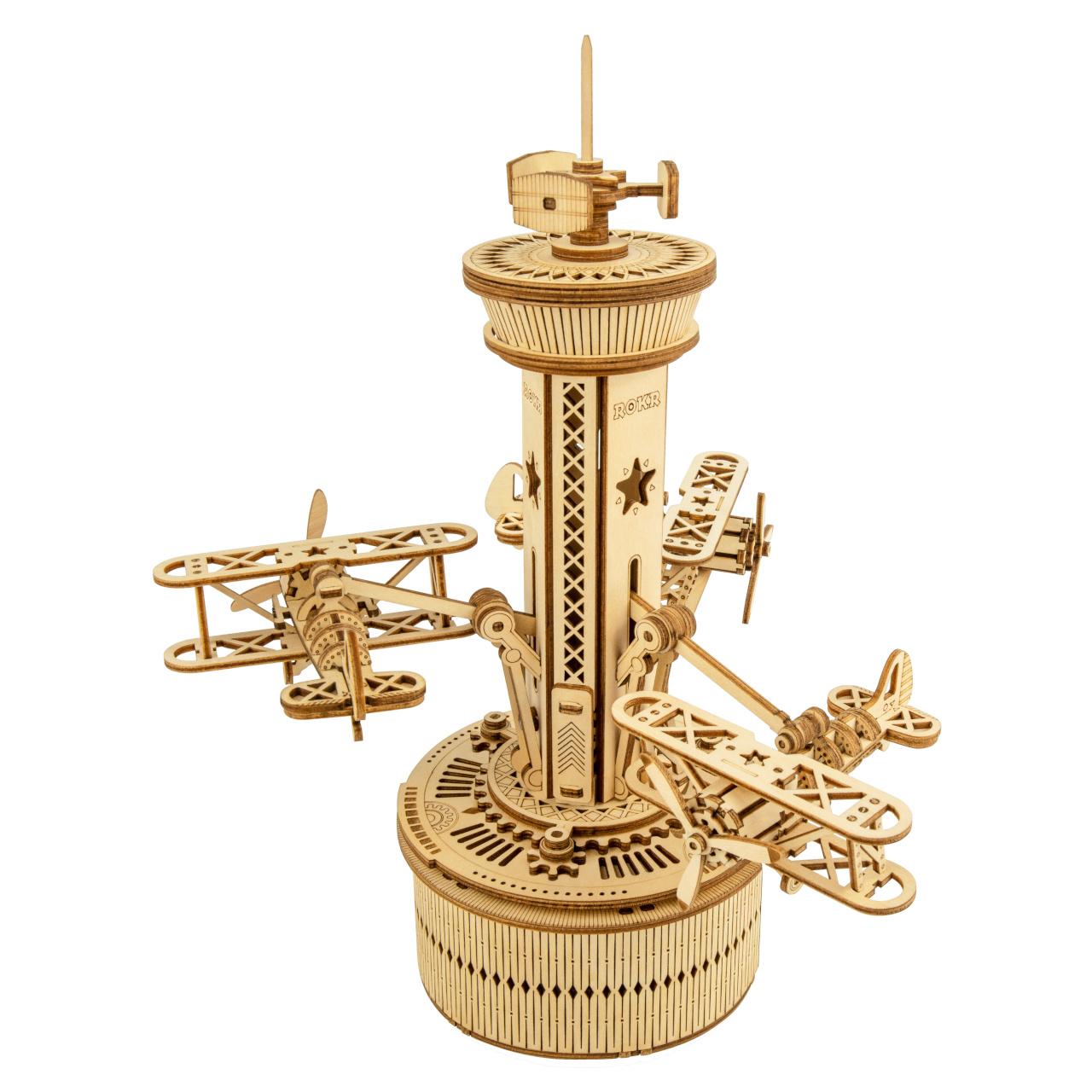 RoboTime 3D skládačka hrací skříňky Řídící věž s letadly