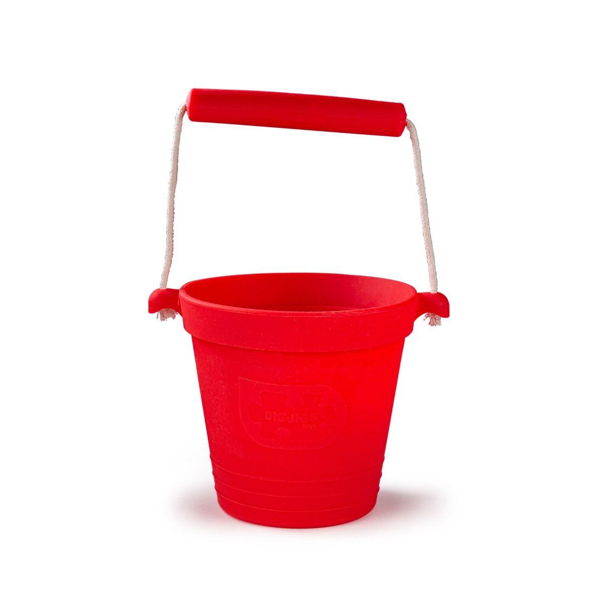 Bigjigs Toys Plážový kyblíček červený