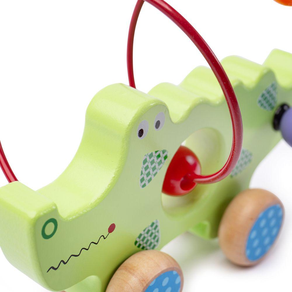 Bigjigs Baby Motorický labyrint krokodýl