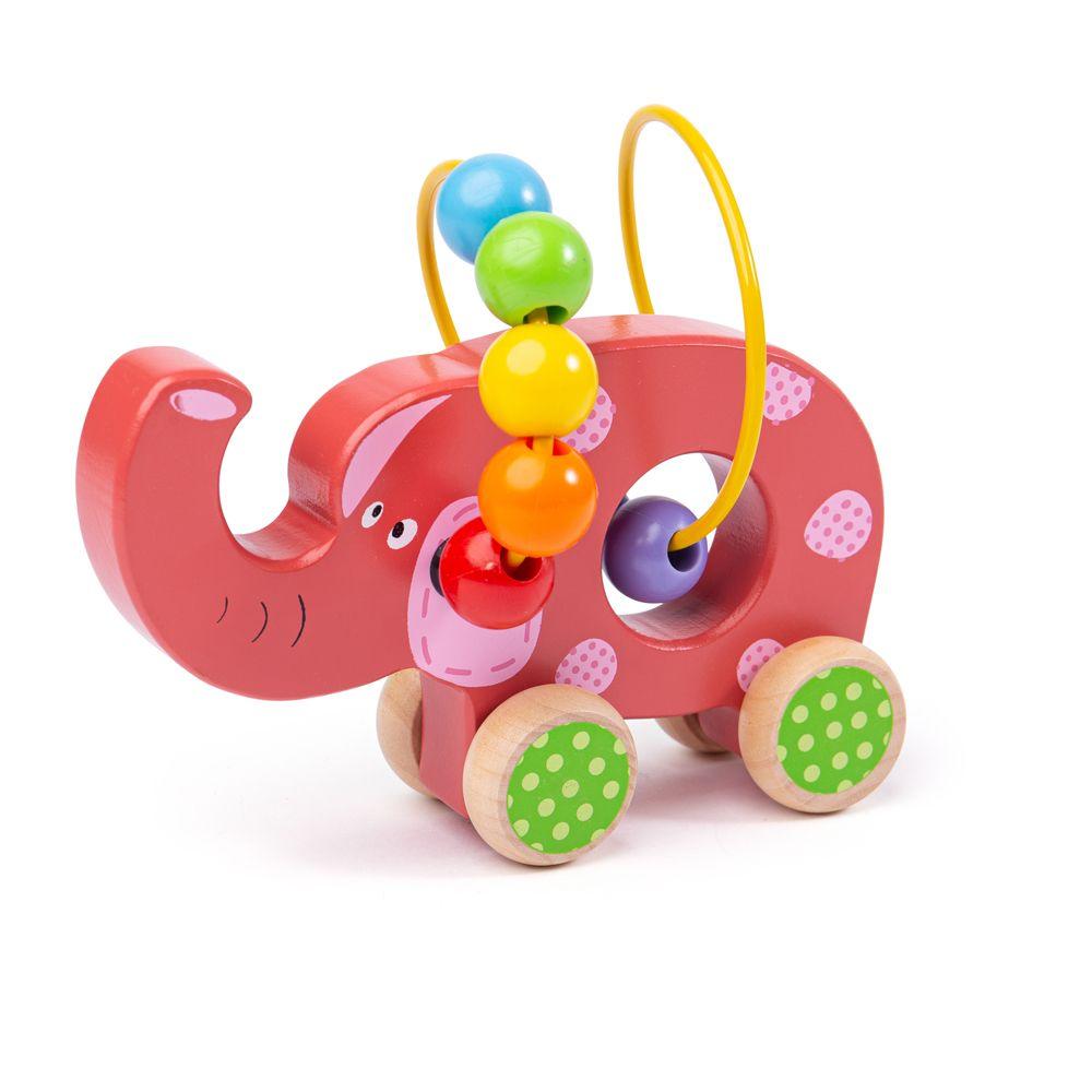Bigjigs Baby Motorický labyrint slon