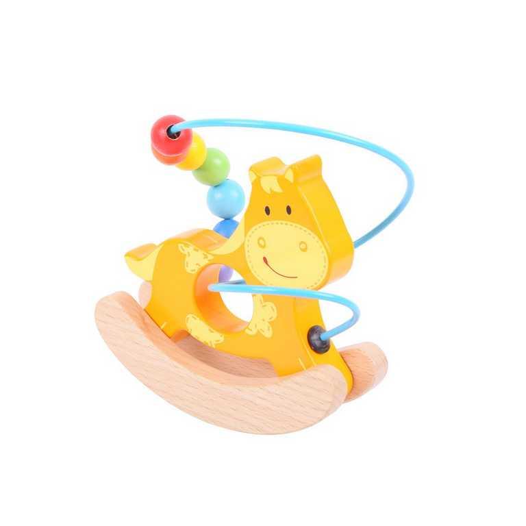 Bigjigs Baby Motorický labyrint houpačka koník