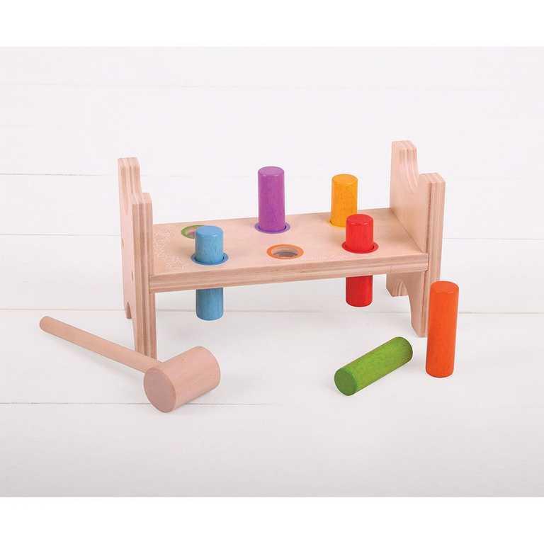 Bigjigs Toys dřevěné hračky - zatloukačka