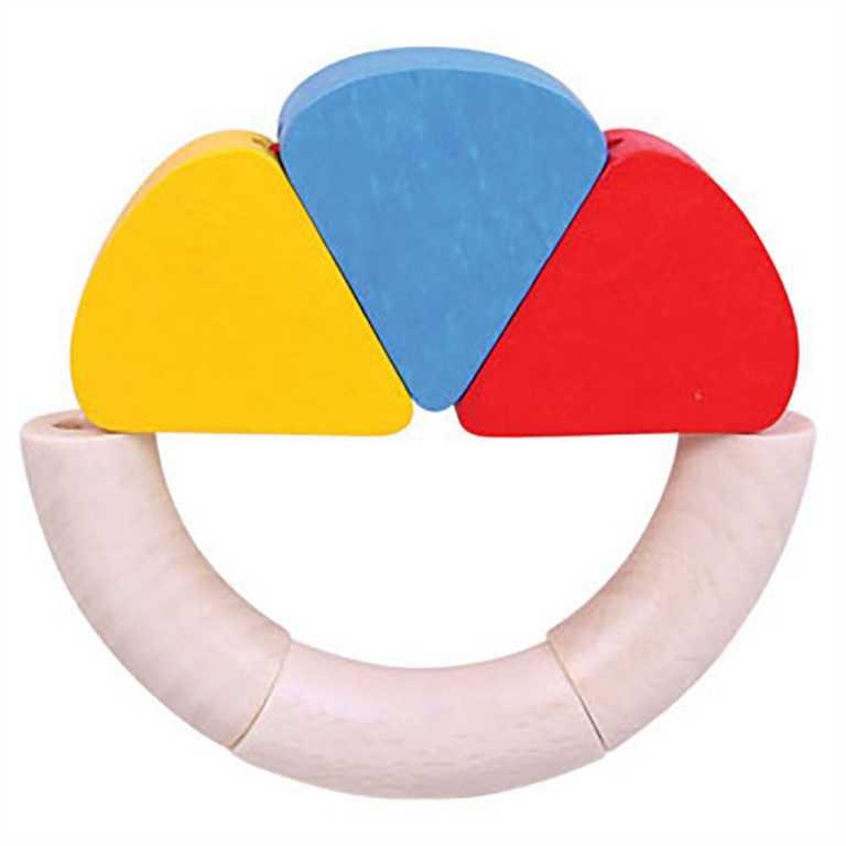Bigjigs Toys  dřevěná hračka - První dotykový kroužek