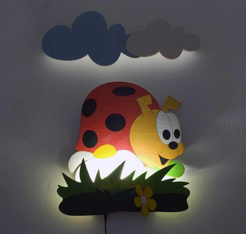 DoDo Dětská LED lampička beruška
