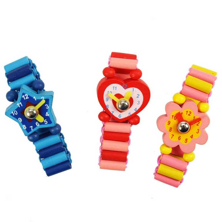 Bigjigs dřevěné náramkové hodinky 1ks