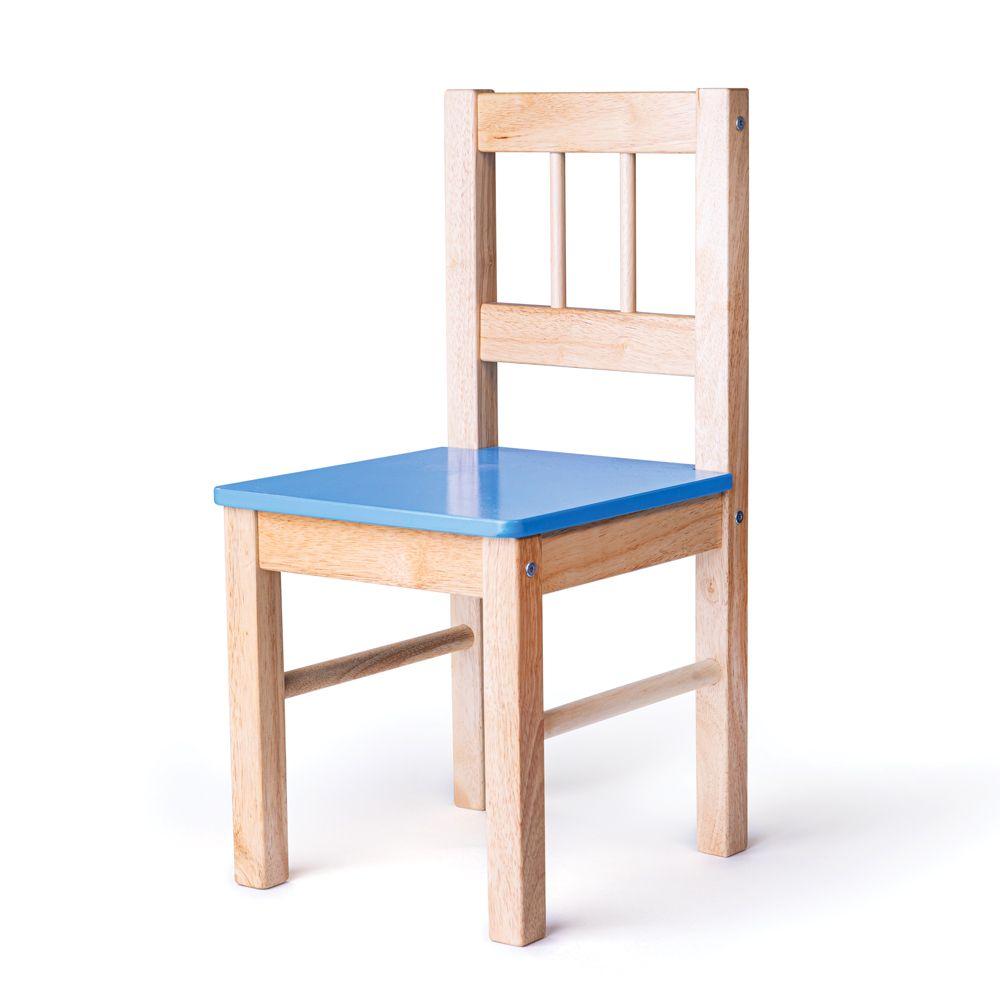 Bigjigs Toys Dřevěná židle modrá