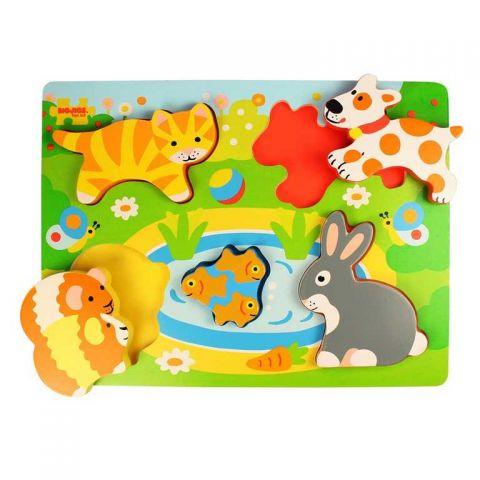 Bigjigs Toys Vkládací puzzle zvířátka