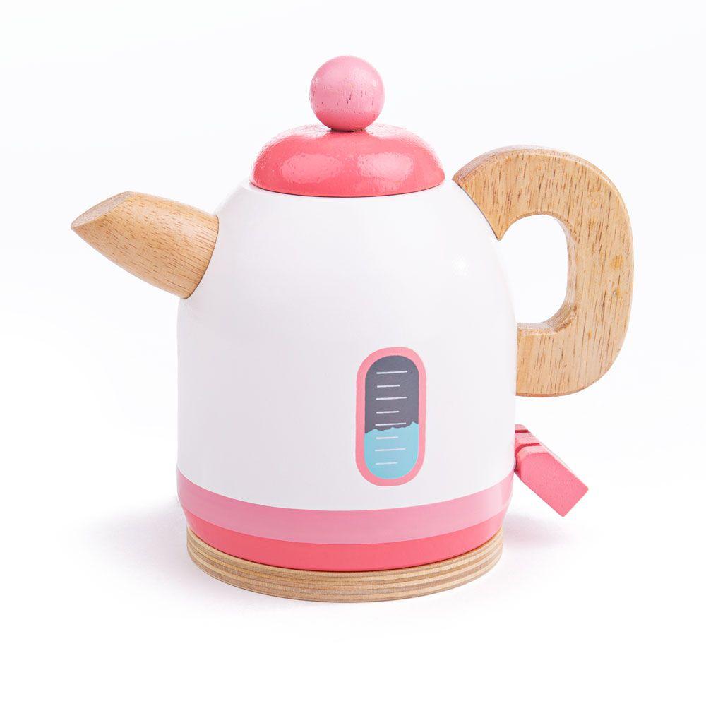 Bigjigs Toys Dřevěná konvice růžová