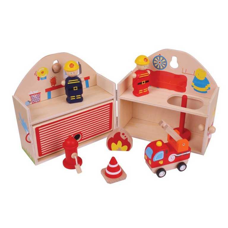 Bigjigs Toys Hasiči v kufříku
