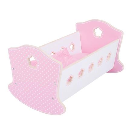 Bigjigs Toys Dřevěná kolébka pro panenky