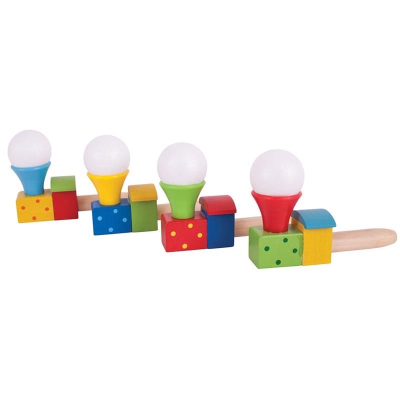 Bigjigs Toys Foukání lokomotiva s balónkem 1ks