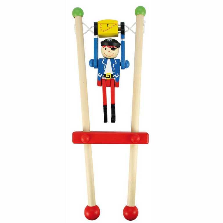 Bigjigs Toys Pirát na hrazdě