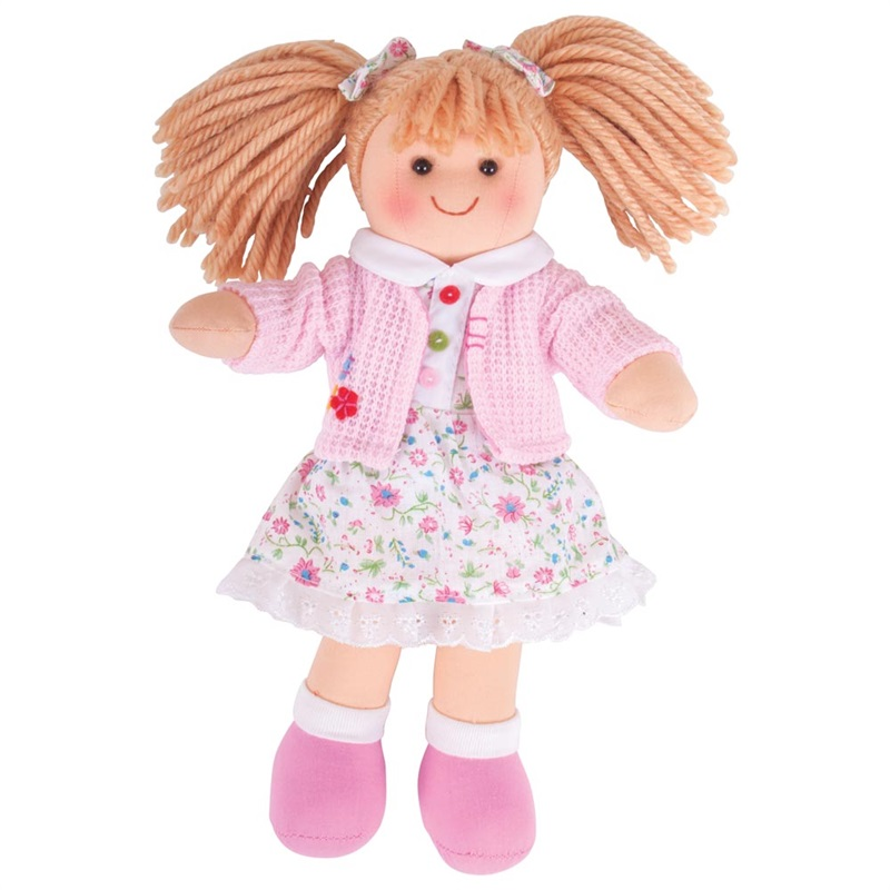 Bigjigs Toys Látková panenka Poppy 28 cm
