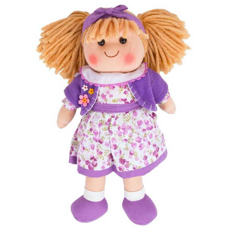 Bigjigs Toys látková panenka Laura 35 cm