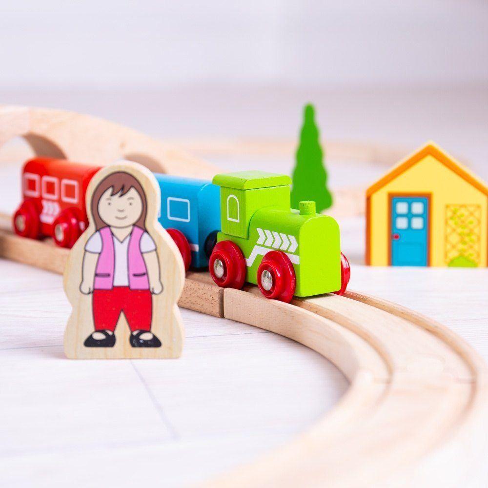Bigjigs Rail Dřevěná vláčkodráha osmička