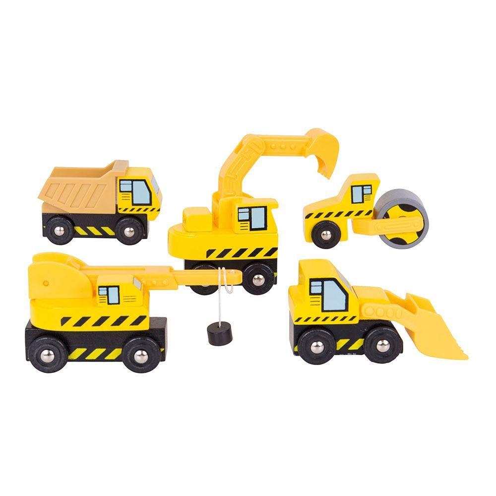 Bigjigs Rail příslušenství vláčkodráhy - Stavební stroje