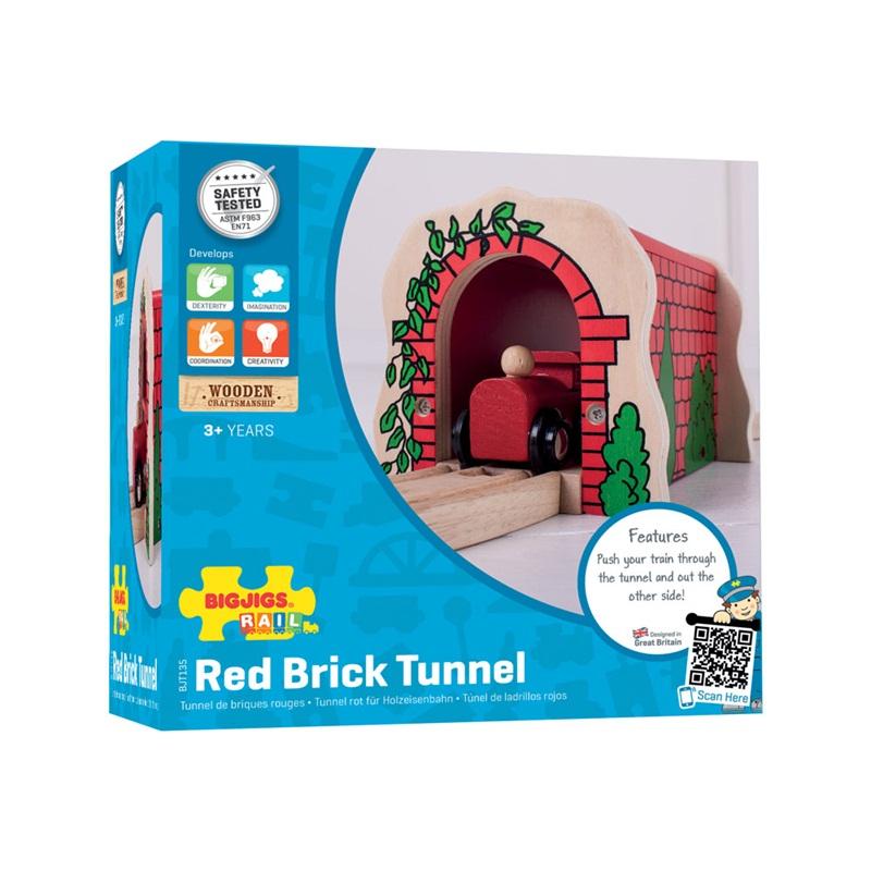 Bigjigs Rail dřevěná vláčkodráha - Cihlový železniční tunel
