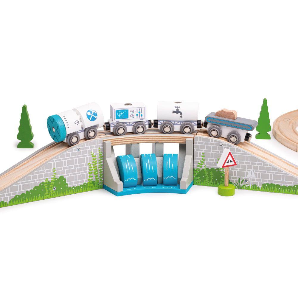 Bigjigs Rail Most s vodopádem