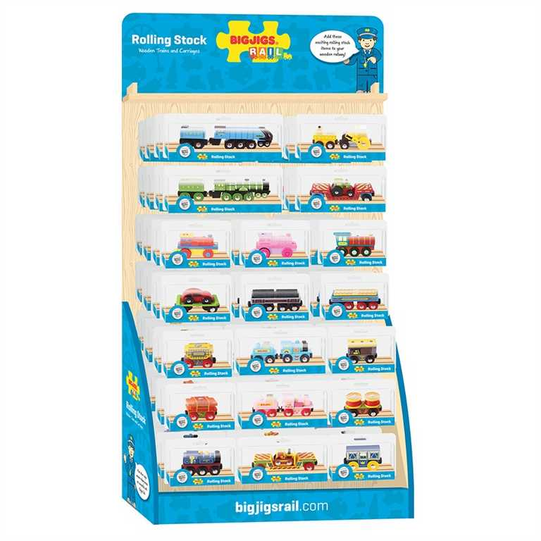 Bigjigs Toys Displej dřevěných vláčků
