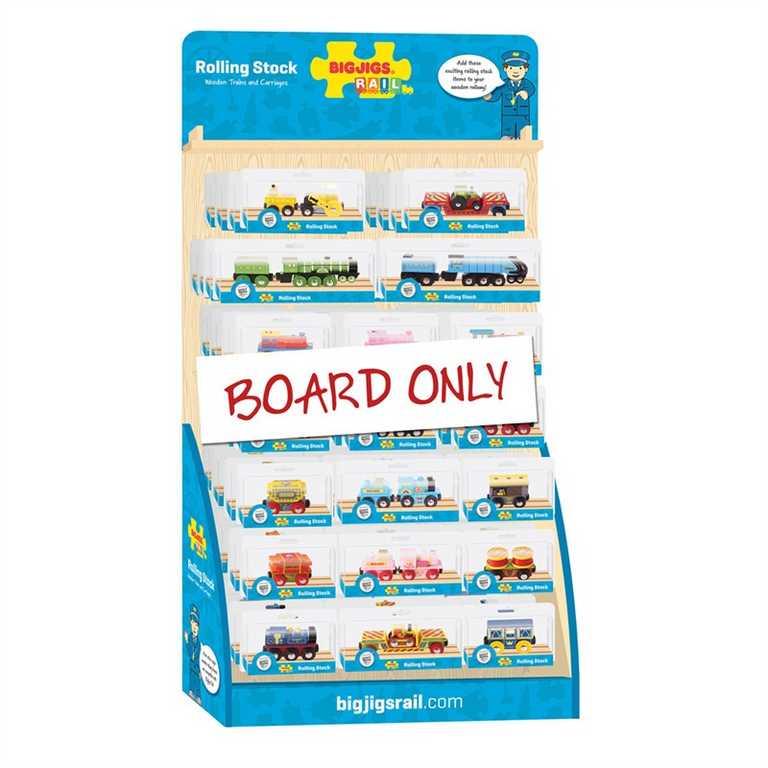 Bigjigs Rail Displej dřevěných vláčků vláčkodráh - bez vláčků!