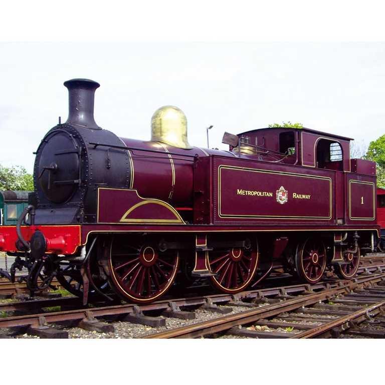 Bigjigs dřevěná replika lokomotivy - Metropolitan