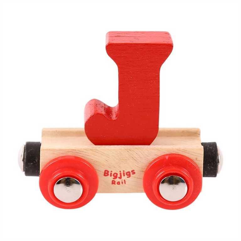 Bigjigs Rail vagónek dřevěné vláčkodráhy - Písmeno J