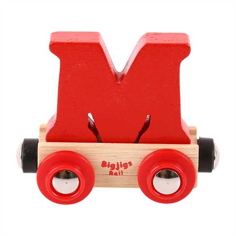 Bigjigs Rail vagónek dřevěné vláčkodráhy - Písmeno M