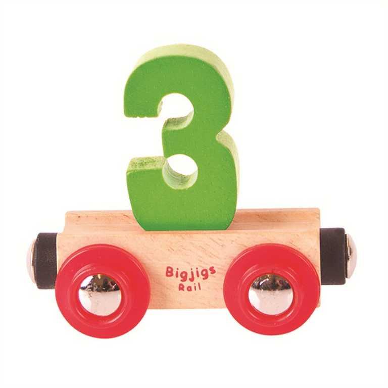 Bigjigs Rail vagónek dřevěné vláčkodráhy - Číslo 3