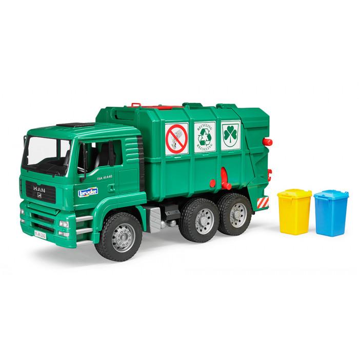 Bruder Popelářské auto MAN-TGA zelené